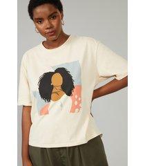 t-shirt amaro colourful woman areia - bege - feminino - dafiti