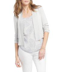 women's nic+zoe first day cardigan, size xx-large - metallic