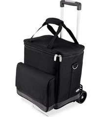 legacy by picnic time cellar 6-bottle wine carrier & cooler tote with trolley
