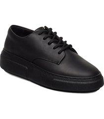 394g black leather låga sneakers svart gram