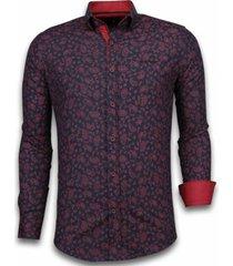 overhemd lange mouw tony backer blouse leaves pattern