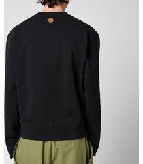 kenzo men's monochrome tiger sweatshirt - black - xxl