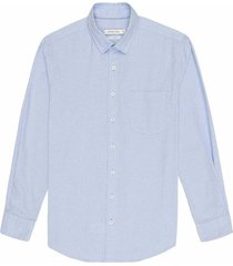 camisa casual manga larga con textura slim fit para hombre 97562