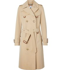 burberry d-ring gabardine trench coat - neutrals