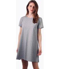 vestido bianca de algodón manga corta gris jacinta tienda
