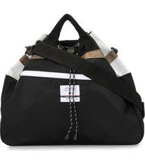 as2ov twill drawstring shoulder bag - black