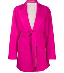 golden goose tie waist fitted jacket - pink