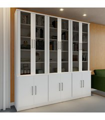 estante para livros 12 portas 15 pratelerias branco 128712 - foscarini