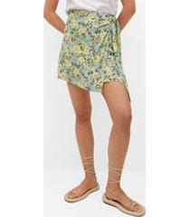 mango women's bow wrap skirt