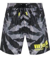 diesel bmbx-wave 2.017 tie-dye swim shorts - black