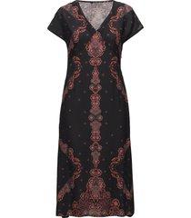 vest tatiana jurk knielengte zwart desigual