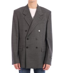 balenciaga gray wool jacket