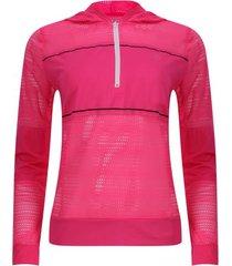 buzo sport cremallera corta color rosado, talla xs