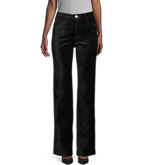 7 for all mankind women's high-rise velvet jeans - black - size 24 (0)