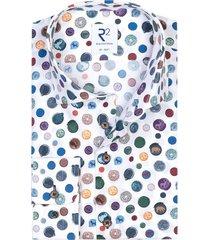 r2 shirt extra lange mouwen wit geprint