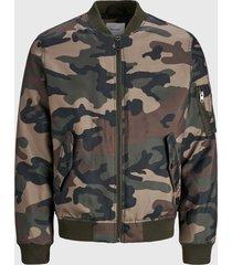 chaqueta jack & jones jjbill bomber jacket multicolor - calce regular