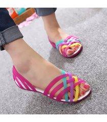 sandalias de mujer crocs jelly sandals sandalias con punta redonda para