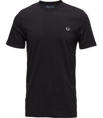 ringer t-shirt t-shirts short-sleeved svart fred perry