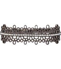 joëlle jewellery diamond detail filigree double ring - metallic