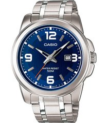 reloj formal plateado casio