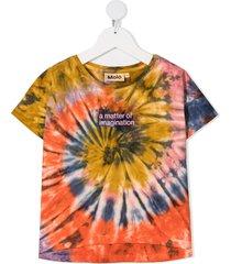 molo swirl tie-dye print t-shirt - orange
