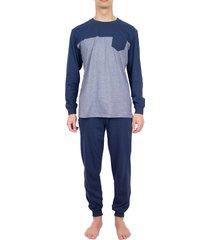 pastunette pyjama bllauw met boord