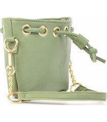mini cartera saco verde mailea