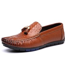 modello in vera pelle di coccodrillo da uomo slip on soft driving mocassini