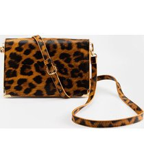 abigail textured zip around string wallet - leopard