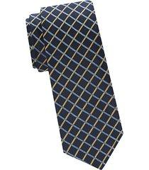 two-tone windowpane check silk tie
