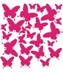 adesivo de parede borboletas rosa - rosa - menina - dafiti