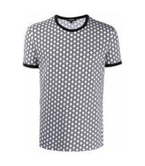 balmain camiseta com estampa de logo corrido - branco