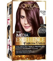 coloração imédia excellence l'oréal paris - fashion paris 6.520 violeta spike