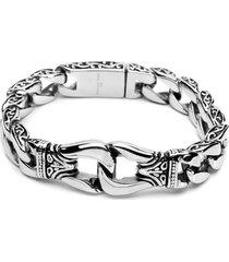 bracciale in acciaio inox d'argento vintage 316l