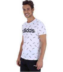 camiseta adidas aop print tee - masculina - branco