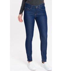 calça jeans five pockets jegging - marinho - 36
