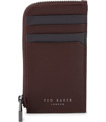 ted baker men's zip-around leather card case - grey