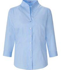 blouse in iets getailleerd model 3/4-mouwen van peter hahn blauw