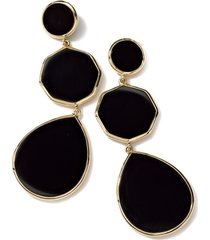 ippolita rock candy drop earrings in gold/black onyx at nordstrom