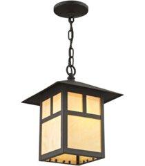 livex montclair mission 1-light outdoor chain lantern
