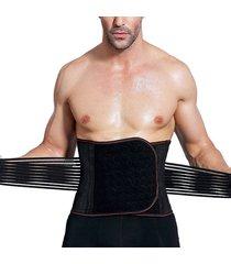 uomo cintura addominale in elastico ridurre vita modellante bodybuilding