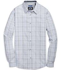 joe joseph abboud lavender multi check sport shirt