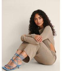 na-kd shoes frottésandaler med remmar - blue