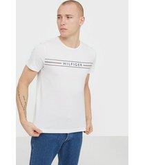 tommy hilfiger corp hilfiger tee t-shirts & linnen white