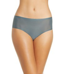 women's chantelle lingerie soft stretch seamless hipster panties, size one size - blue/green