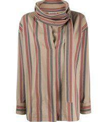 acne studios cowl neck top - neutrals