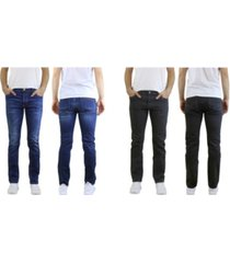galaxy by harvic men's 2-packs straight leg washed jeans with stretch