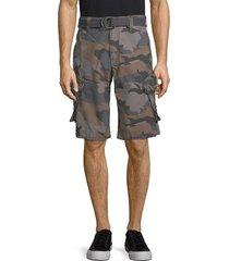 jetlag men's belted camo cargo shorts - light gold - size 38