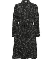dress woven fabric knälång klänning svart gerry weber edition