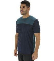 camiseta oxer air - masculina - azul esc/verde esc
